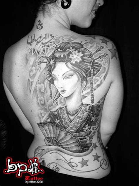 japanese tattoo art geisha tattoo clippings back piece geisha japanese tattoo