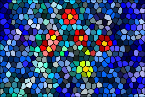 Mosaic Pattern Clipart | blossoms surfacing water mosaic clip art at clker com