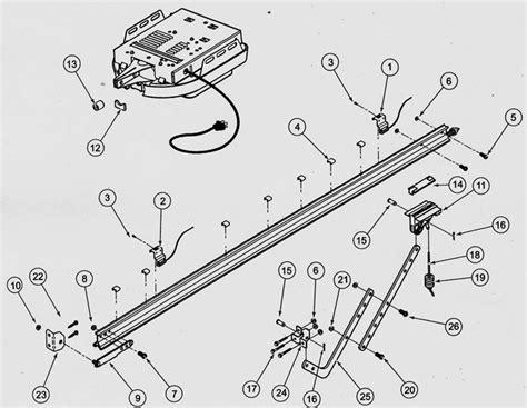 genie garage door opener parts diagram genie garage door parts diagram genie free engine image