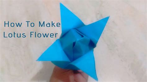 How To Make Lotus Using Paper - diy crafts how to make paper flowers origami lotus