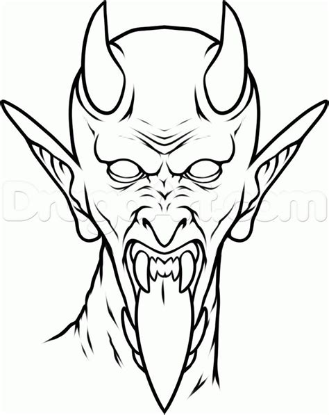 42 Best Demon Tattoo Outlines Images On Pinterest Tattoo Outline Demon Tattoo And Outlines Outline Drawings For