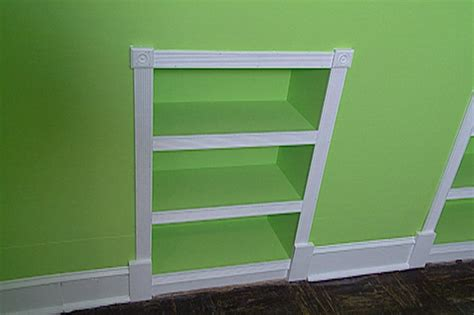 how to build recessed bookcases hgtv - Recessed Bookshelves