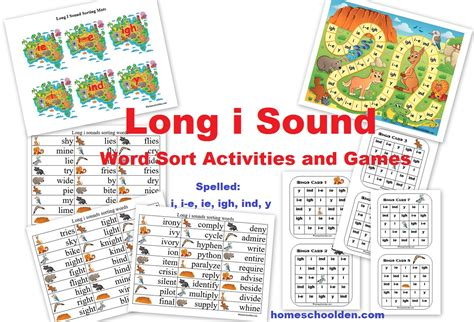 ie pattern words long i word sort words with y i e or ie homeschool den