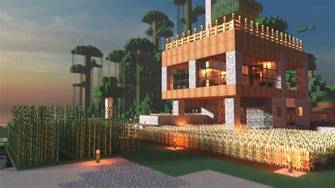 farm house minecraft modern farmhouse minecraft render minecraft house