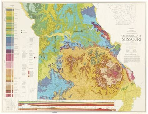 """""""geologic map of missouri"""" by kenneth h. anderson, jerry d"""