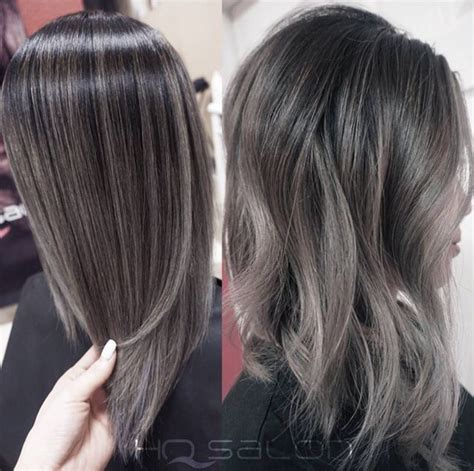 pretty highlights for gray rooted hair 456 best images about hair color on pinterest