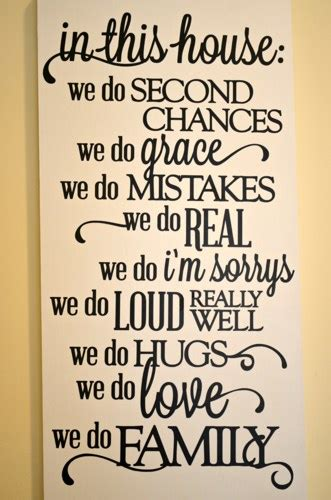 Home Decor Signs Shabby Chic in this house quote wooden sign we do real we do loud