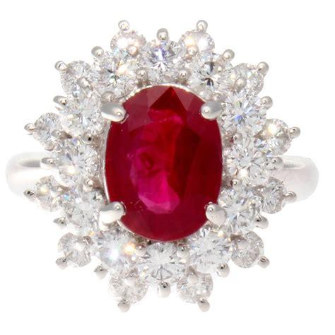 ruby 3 3crt 3 carat burma ruby platinum ring at 1stdibs