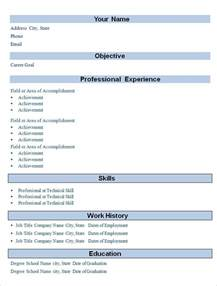 Simple Professional Resume Template by Simple Resume Template 39 Free Sles Exles Format Free Premium Templates