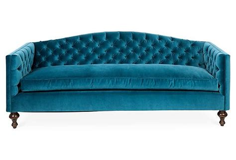 teal tufted sofa victoria 87 quot tufted velvet sofa teal