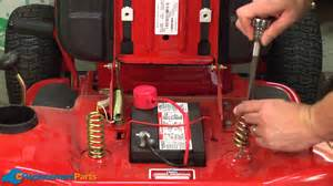 how to replace the seat springs on a troy bilt pony lawn