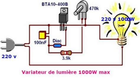 interrupteur variateur 2011 schema de variateur de lumi 232 re a triac 1000w max
