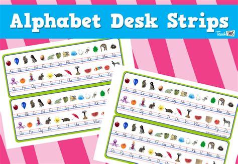 printable alphabet for desk printable alphabet strip for desk desk strips alphabet