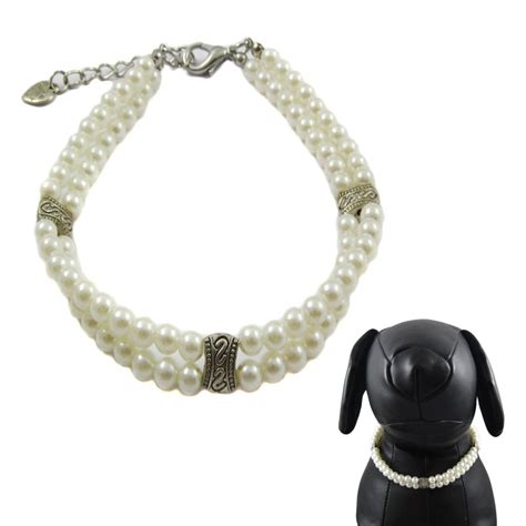 necklace for dogs alfie couture designer pet jewelry nea layer pearl necklace for dogs