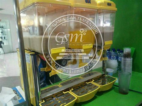 Dispenser Jus Buah mesin dispenser jus gea 3 tabung toko mesin gama sakti