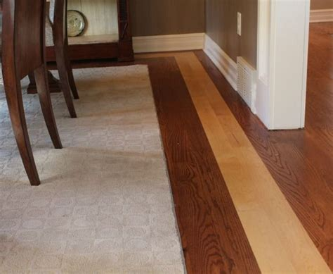 Dining room floor with contrasting border   Remodeling