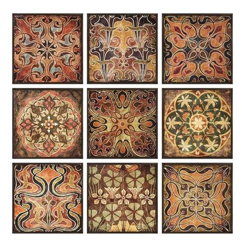 home decorators collection 12 25 in x 12 5 in tuscan wood wall panel set of 9 1268500570
