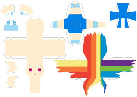 Rainbow Dash Papercraft - human rainbow dash papercraft papercraft by hetalianpony