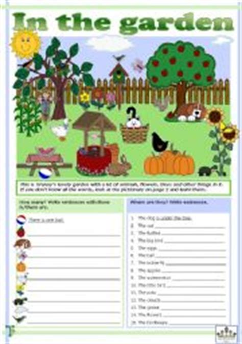 Gardening Worksheets Search Results For Vocabulary The House For