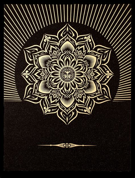 new diamond dust print series unveils tonight at the la art show obey giant