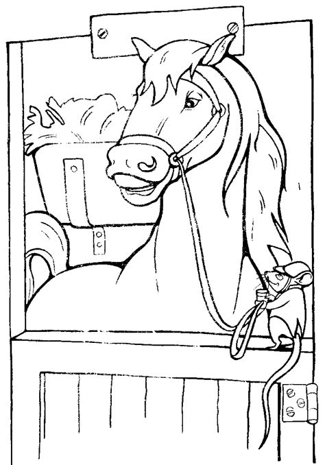 coloring pages of horse stable horse stables clipart 40