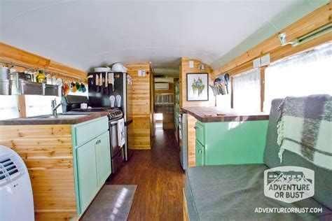 Tiny Cabins by Couple S Adventure Or Bust Converted Bus