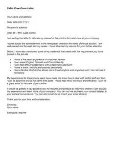 Cover Letter For Cabin Crew by Cover Letter Cabin Crew Experience Resumes