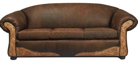 santa fe leather sofa southwestern sofas by rustic