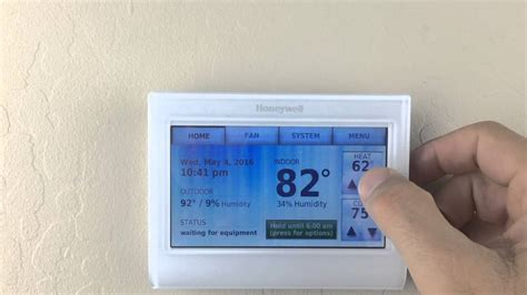 resetting wifi on honeywell thermostat honeywell 9000 wi fi thermostat screen lock password