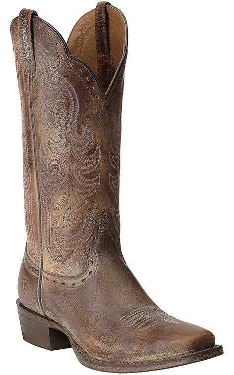 cheap western boots for ariat s times antique brown punchy square toe