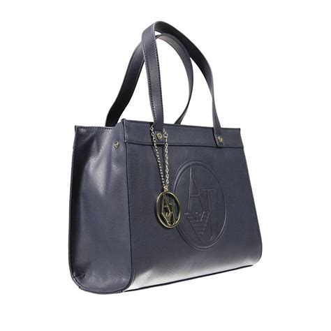 Bag Giorgio Armani 235 2 P Bag Size 26x3x17cm Quality Semi P lyst armani handbag bag ecoleather with logo impresso e charms 2 handles in blue