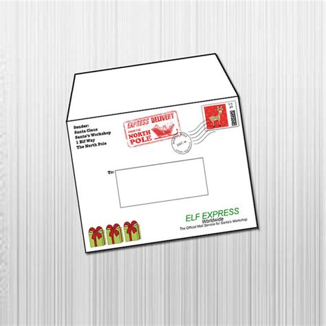 printable envelope from north pole items similar to printable letters from santa envelope