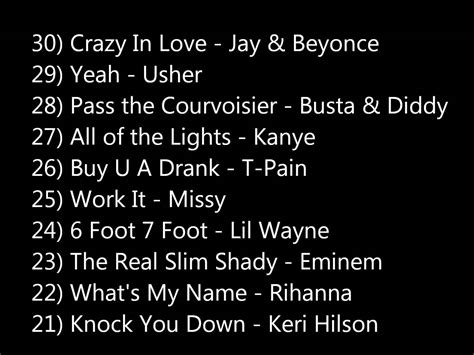list of number one rb hip hop songs of 2012 u s fuse top 100 hip hop hits full song list youtube