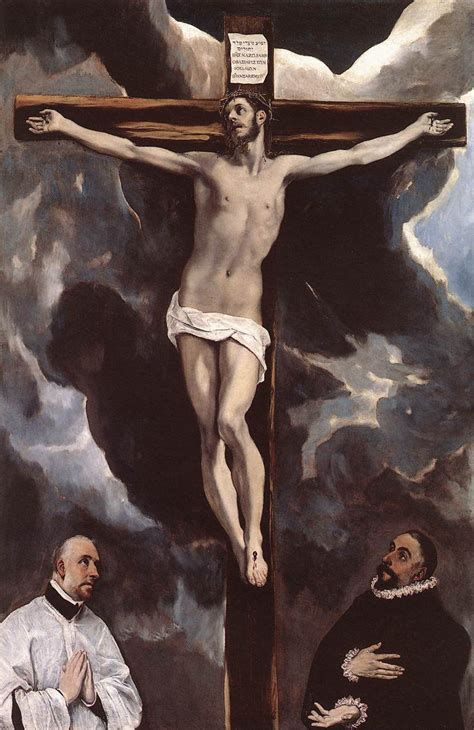imagenes de jesucristo crucificado christ on the cross adored by two donors c 1590 el