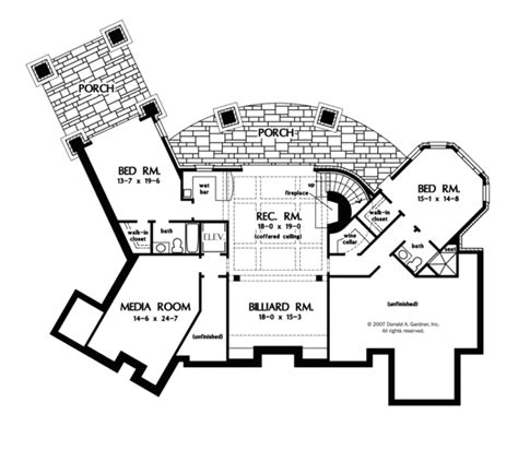 house plans for seniors european style house plan 4 beds 4 baths 4693 sq ft plan