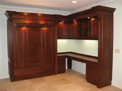 Desk Murphy Bed by Murphy Bed Desk Combo Plans Furnitureplans