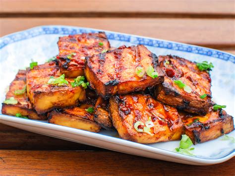 cuisines collide in this grilled tofu with chipotle miso sauce serious eats