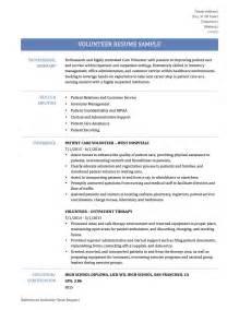 Sample Resume With Volunteer Work   Gallery Creawizard.com