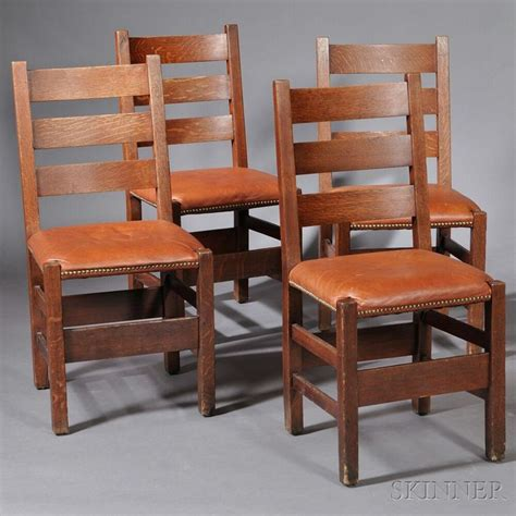 four gustav stickley dining chairs stickley dining room