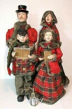 set   large victorian christmas carolers   indoor