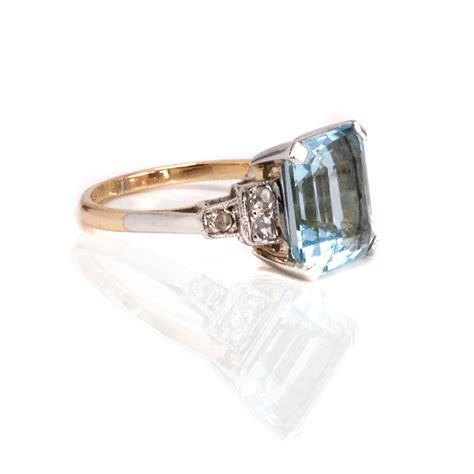 deco aquamarine rings aquamarine and ring from the deco era