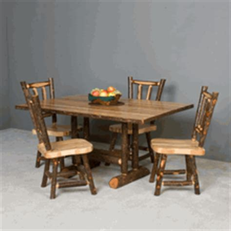 viking dining table dining tables cabin tables lodge fine viking hickory log dining table log cabin rustics