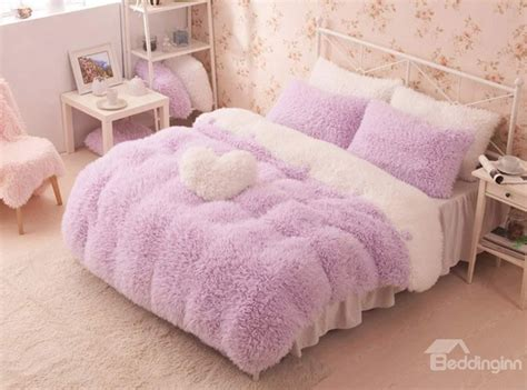 bedding inn com pretty soft princess style purple girls 4 piece bedding