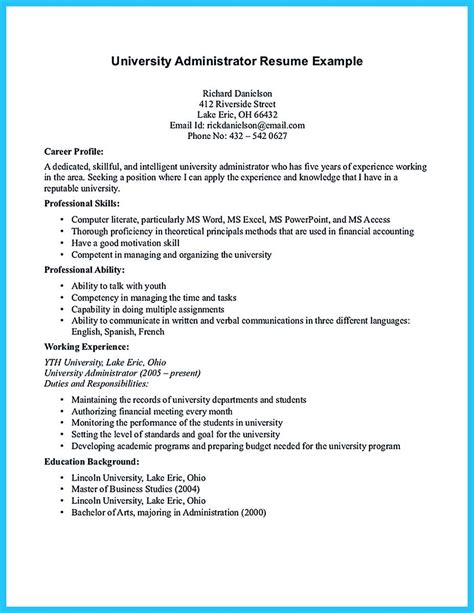 sample resume for college admission college applications resume