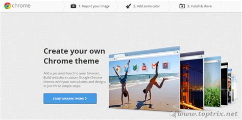google design your own website create your own google chrome theme in 3 easy steps toptrix
