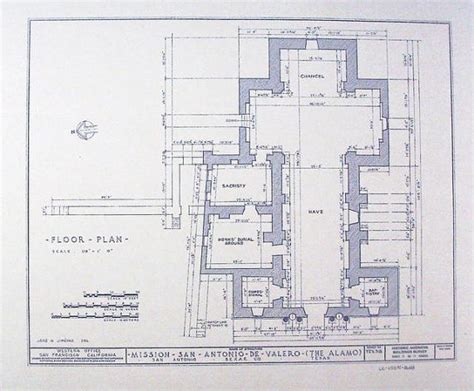 alamo floor plan blueprint by blueprintplace on etsy