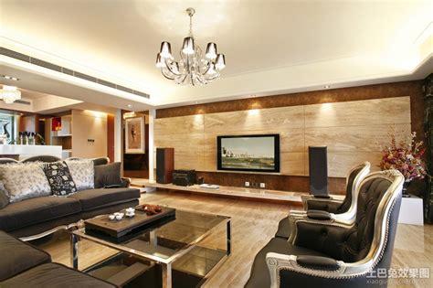 现代客厅大理石电视背景墙装修效果图 土巴兔装修效果图