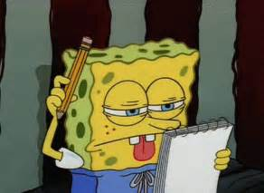 Spongebob Doing Essay by The Writing Center Learning From The Best How Not To Write An Essay Like Spongebob Squarepants
