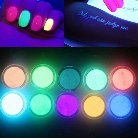 glow in the dark tattoo colors 10 colors glow in the dark nail fluorescent tattoo acrylic