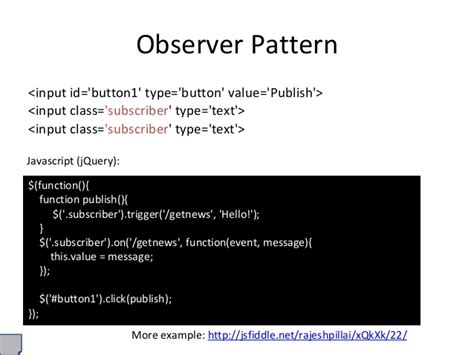 javascript observer pattern jquery jquery trigger button click event phpsourcecode net